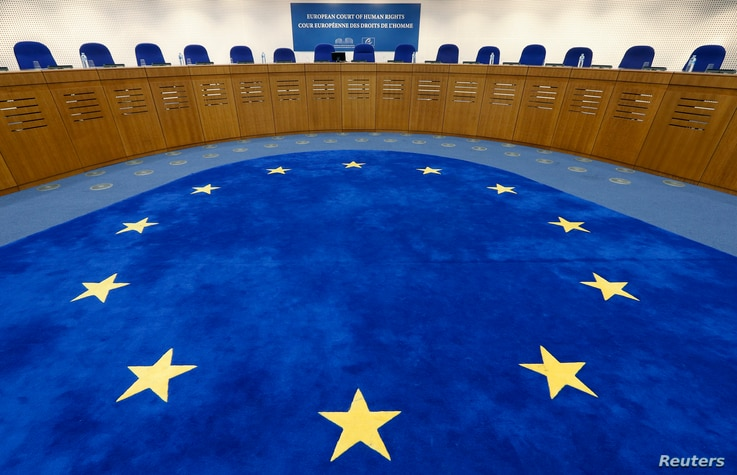 General view of the plenary room of the European Court of Human Rights in Strasbourg, Nov. 27, 2013, ahead of an hearing concerning a law that bans covering faces with veils in public places in France.
