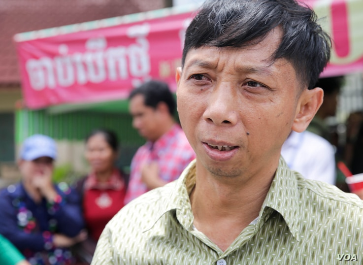 Pa Nguon Teang,executive director of the Cambodian Center for Independent Media appears for questioning in relation to an alleged sex scandal against opposition party deputy leader Kem Sokha, at Phnom Penh Municipal Court on Thursday, August 18, 2016...