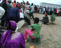 Nambians voting in last month's election.