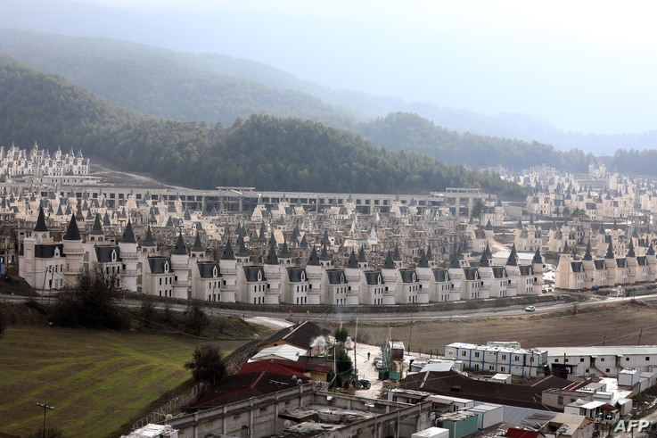 A photo shows hundreds of houses part of the Sarot Group's Burj Al Babas project, Dec. 15, 2018, close to the town centre of Mudurnu in the Bolu northwestern region.