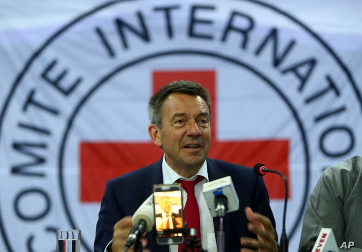 FILE - International Committee of the Red Cross (ICRC) President Peter Maurer.