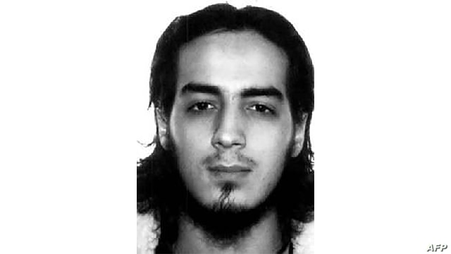 Interpol handout picture obtained on March 27, 2016 shows Najim Laachraoui, one of the suicide bombers involved in the terrorist attacks of Zaventem airport of March 22, in Brussels, also linked to the November 13, 2015 attacks in Paris.