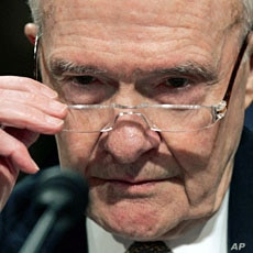 Former National Security Advisor Brent Scowcroft on Capitol Hill in Washington. (2007 File Photo)