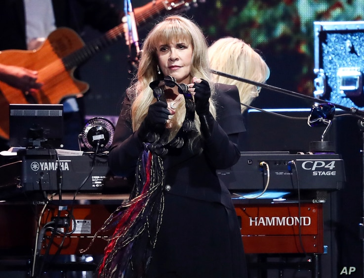 Stevie Nicks of the band Fleetwood Mac performs at the 2018 iHeartRadio Music Festival Day 1 held at T-Mobile Arena on  Sept. 21, 2018, in Las Vegas.