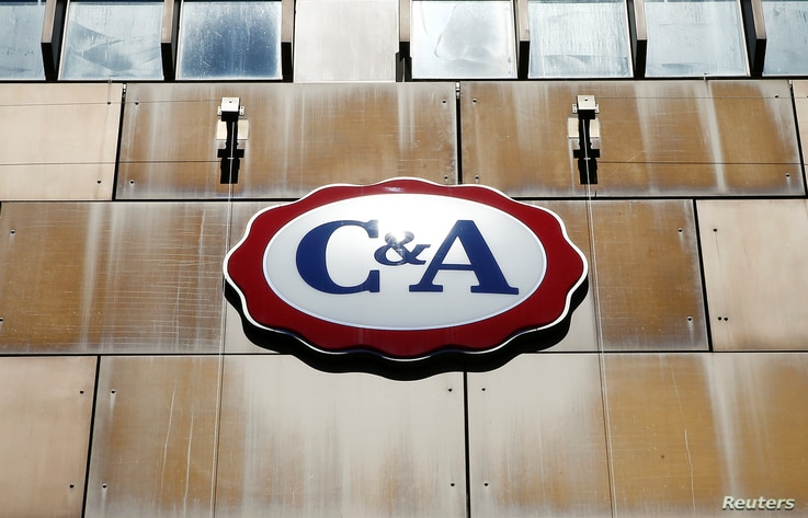 The logo of fashion group C&A is seen in Zurich, Switzerland, June 23, 2016.