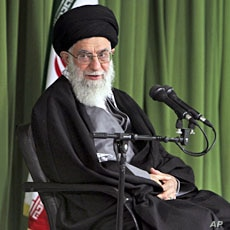Iran's Supreme Leader Ayatollah Ali Khamenei attends a meeting with Iranian nuclear scientists and managers in Tehran, February 22, 2012