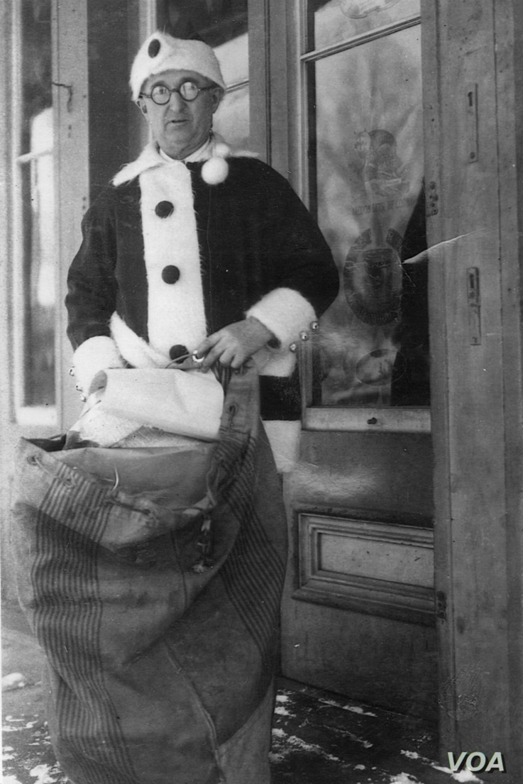 Santa Claus Postmaster James Martin starting answering children's letters to Santa in 1914.