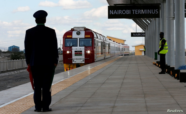 Critics say the Standard Gauge Railway — the Nairobi Terminus is pictured on May 31, 2017 — was rushed to completion ahead of the elections, before proper planning was complete.