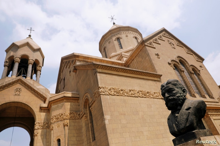 The Armenian Orthodox Church is seen during a Sunday mass in Cairo, Egypt, Sept. 16, 2018.