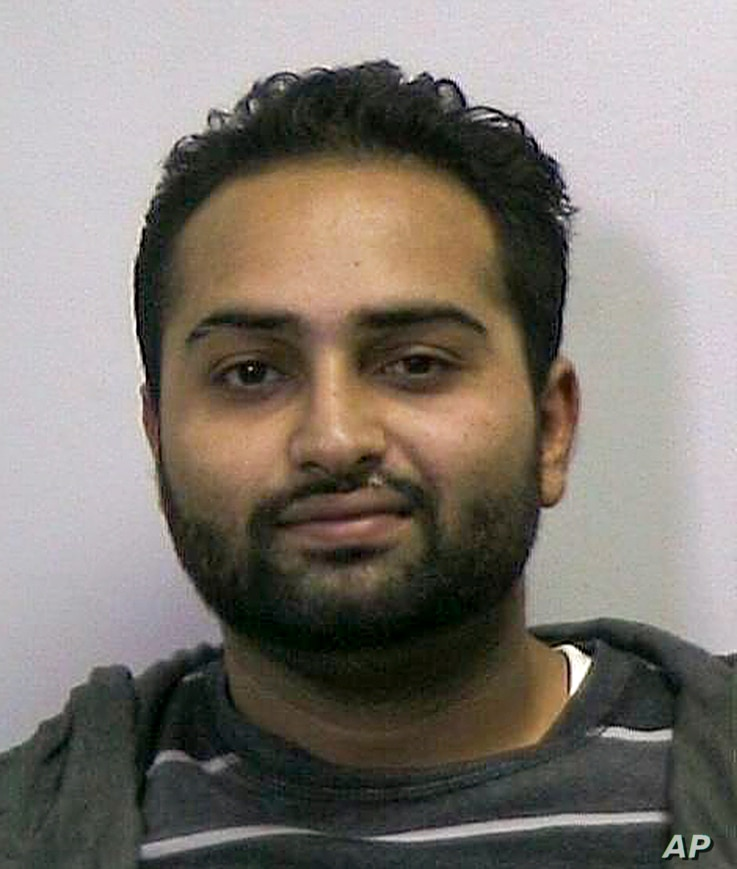 Harbir Parmar is seen in this photo provided by the FBI, Oct. 16, 2018 in New York.