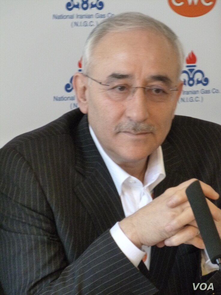 """Iranians """"can overcome the uncertainties created by this dynamic in Washington,"""" Amir Hossein Zamaninia, Tehran's deputy petroleum minister, told reporters at yhe CWC Iran LNG and Gas Partnerships Summit in Frankfurt, Germany,"""" Feb. 15, 2017. (H. Rid..."""