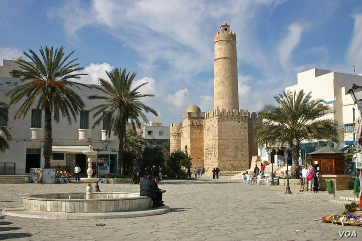 A view of the 8th Century Ribat, a religious fortress in the old center of Sousse.