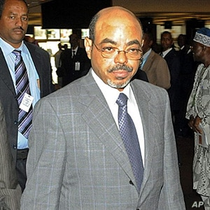 Ethiopian Prime Minister Meles Zenawi attenede a three day African Union summit at the UN headquarters in Addis Ababa on 2 Feb 2010. AFP PHOTO/ SIMON MAINA