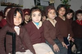 Shama (at left) and her classmates