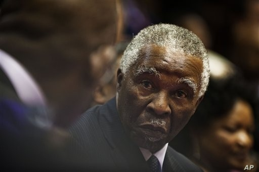Former South African President Thabo Mbeki, Cape Town, February 10, 2011.