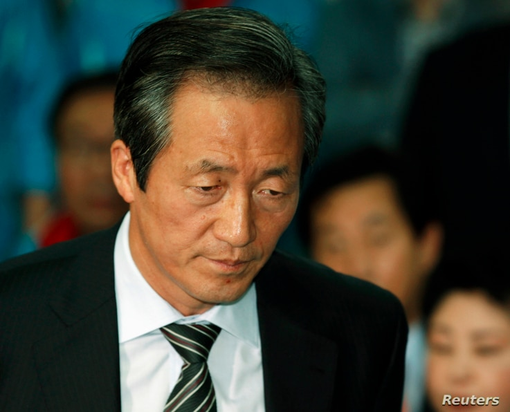 Chung Mong-joon, chairman of the ruling Grand National Party, June 2, 2010 file photo.