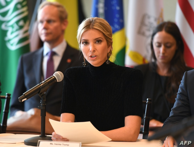 """Ivanka Trump addresses the event """"A Call to Action to End Forced Labour, Modern Slavery and Human Trafficking"""" on Sept. 19, 2017 at the United Nations in New York."""