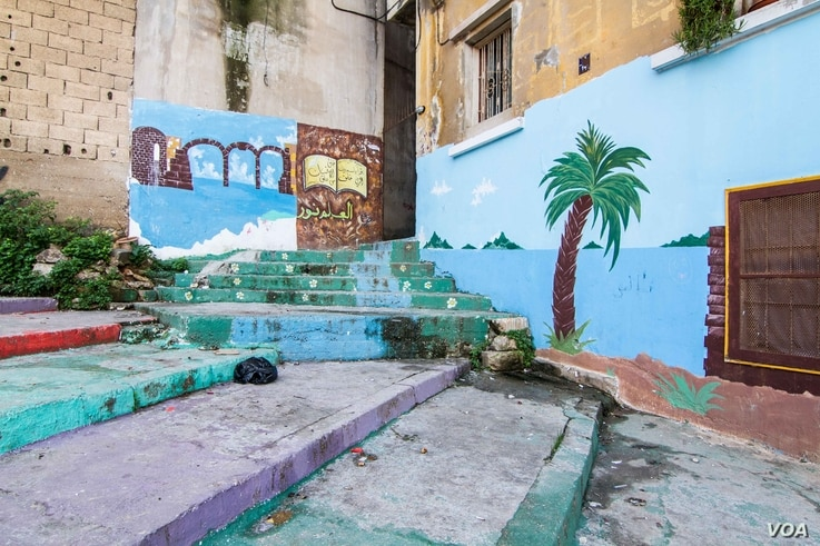 As well as stairs, the One Voice Team worked with locals to paint murals