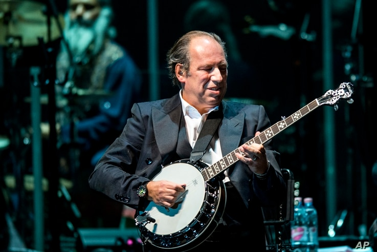 Oscar, Grammy and Golden Globe-winning German composer Hans Zimmer performs live during his concert at the Papp Laszlo Sports Arena in Budapest, Hungary, May 11, 2016.