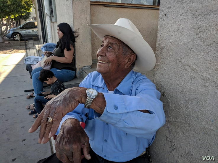 """""""It's calm here and there,"""" says Heriberto González, a longtime resident of San Luis, Ariz. Like other residents of the border town, he is not bothered by the deployment of the National Guard to the area either."""