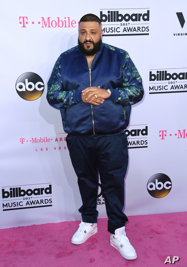 DJ Khaled arrives at the Billboard Music Awards at the T-Mobile Arena in Las Vegas, May 21, 2017.