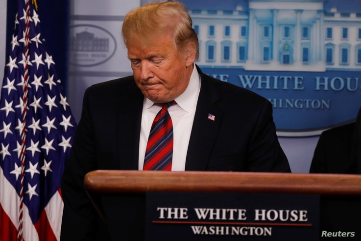 U.S. President Donald Trump speaks to reporters about border security in the Briefing Room at the White House in Washington, Jan. 3, 2019.