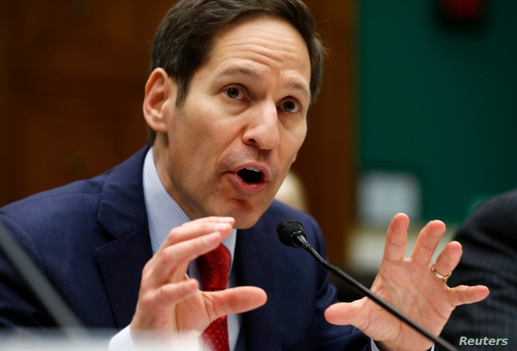 """U.S. Centers for Disease Control and Prevention (CDC) Director Tom Frieden testifies before the House Committee on Energy and Commerce Oversight and Investigations Subcommittee hearing on """"Review of CDC anthrax LabIncident"""" on Capitol Hill in Washing..."""