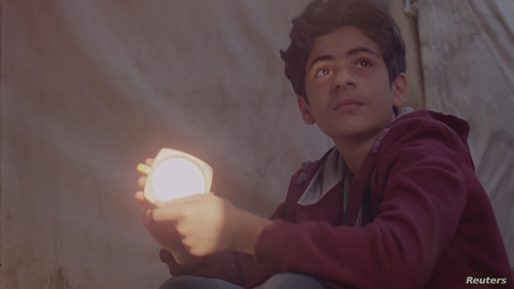 A still taken from BAFTA-nominated short film 'Aamir,' showing Aamir (played by Alan Asaad) in Calais, France.