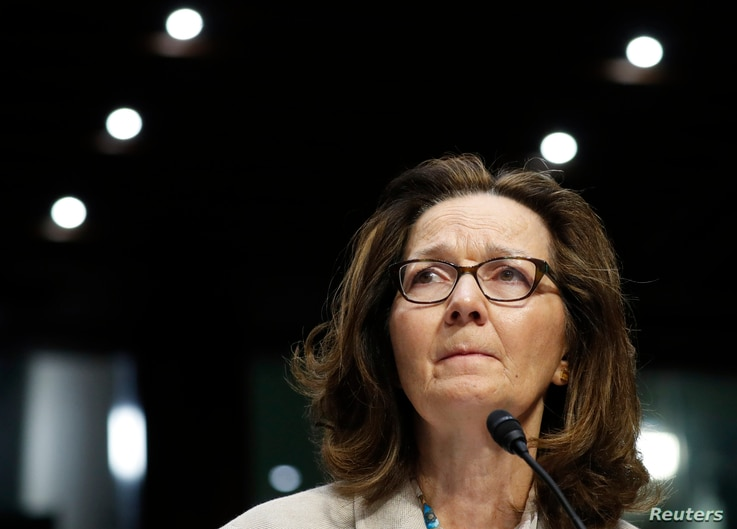 CIA Director Gina Haspel testifies at her Senate Intelligence Committee confirmation hearing on Capitol Hill in Washington, May 9, 2018.