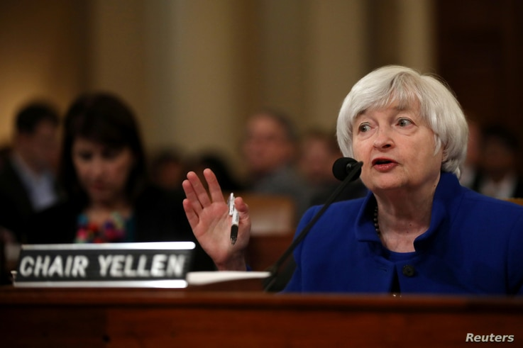 Federal Reserve Chair Janet Yellen testifies on the U.S. economic outlook, before the Congressional Joint Economic Committee on Capitol Hill, in Washington,, Nov. 29, 2017.