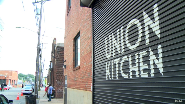 Union Kitchen is a food incubator operating in Washington, where fledgling businesses without the means for a brick-and-mortar operation rent space in a professional kitchen.
