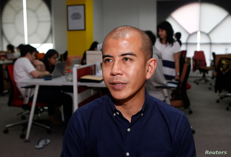 Nanda Ivens, chief operating officer at XM Gravity Indonesia, speaks during an interview at his office in Jakarta, March 26, 2013.