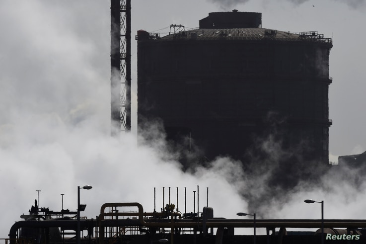 A general view shows the Tata steelworks in the town of Port Talbot, Wales, Britain, March 30, 2016.