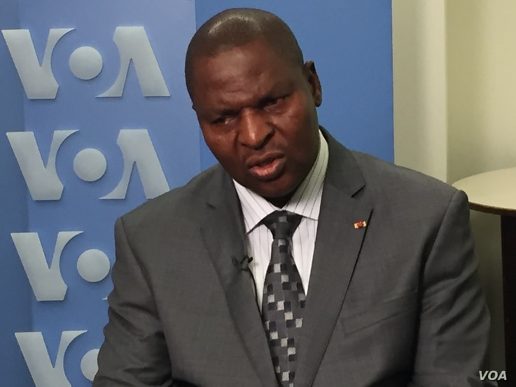 President Faustin-Archange Touadéra, recently elected to the Central African Republic, speaks with VOA's Jacques Aristide in an exclusive interview, New York. (VOA/ M. Besheer and C.Forcucci)