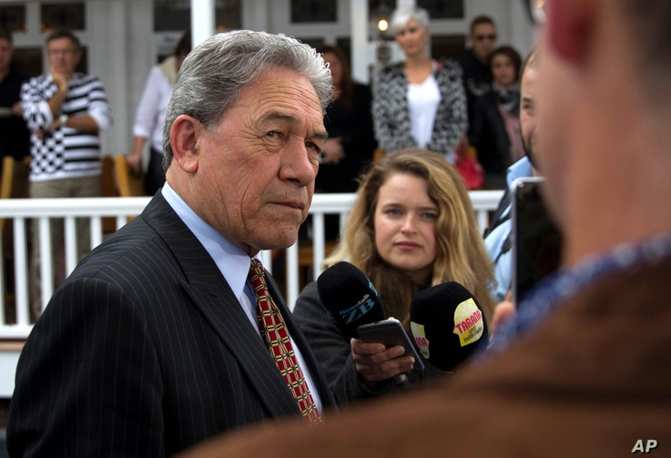 New Zealand First leader Winston Peters in Russell, New Zealand, Sept. 24, 2017.