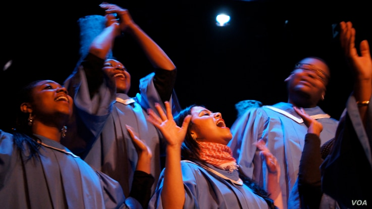 Choir members sing during a performance of 'Passages of Martin Luther King' (Photo courtesy of Clarity Films Directed by Connie Field USA)