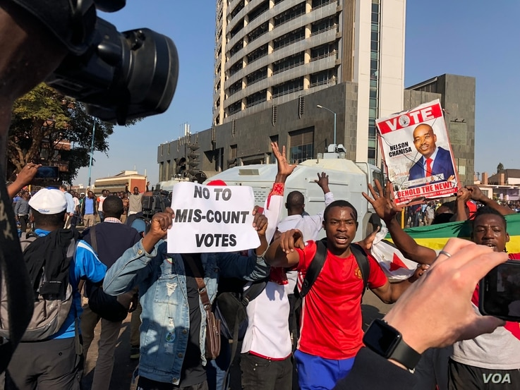 "The Movement for Democratic Change Alliance says it will hold protests as part of its effort to push the Zimbabwe Electoral Commission to release ""proper results"" of the July 30 general election. On Wednesday, protesters demanded the release of p..."