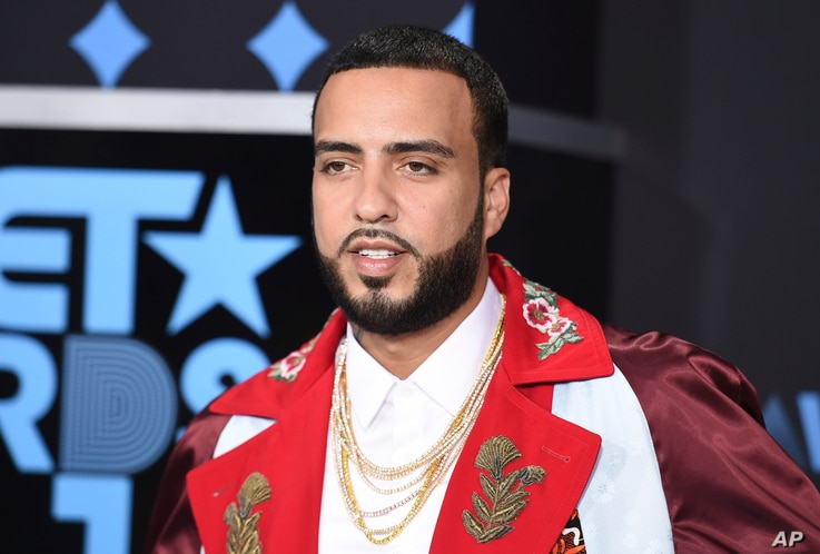 FILE - French Montana arrives at the BET Awards at the Microsoft Theater on June 25, 2017, in Los Angeles.