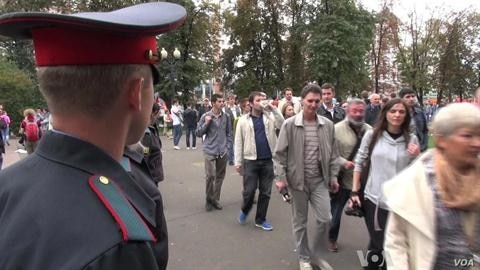 Russian Opposition Stages Protest March