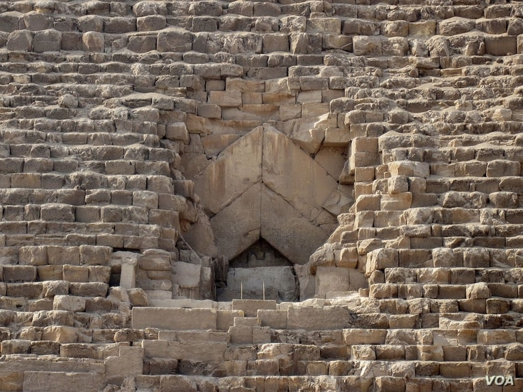 The North Entrance to the Great Pyramid. Courtesy: Olaf Tausch