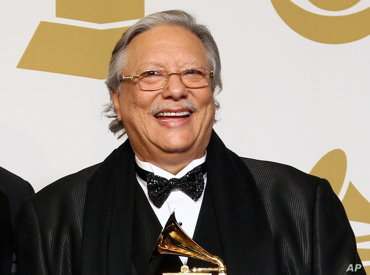 FILE - This Feb. 10, 2013 file photo shows Grammy-winning jazz musician Arturo Sandoval  at the 55th annual Grammy Awards in Los Angeles.
