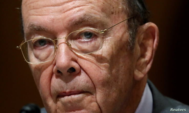FILE - U.S. Commerce Secretary Wilbur Ross, on Capitol Hill in Washington.