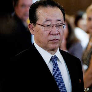 Kim Kye Gwan, first vice foreign minister of North Korea, arrives at John F. Kennedy International Airport in New York,  July 26, 2011