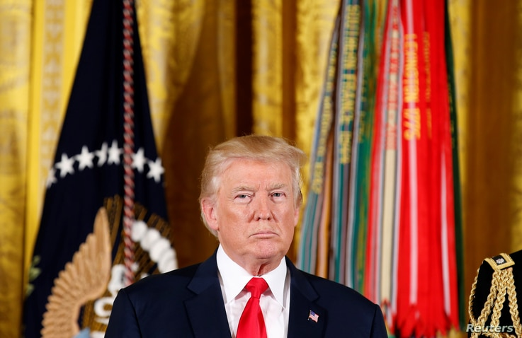 U.S. President Donald Trump at the White House, July 31, 2017.