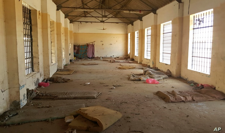 A deserted cell in the public section of Aden Central Prison is shown in this May 9, 2017, photo in Aden, Yemen. A separate, closed wing is run by Yemeni allies of the United Arab Emirates, part of a network of secret prisons in southern Yemen into w...