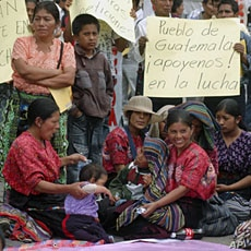 Indigenous Guatemalan women from different rural areas participate in a peaceful protest in Guatemala City, demanding a rural development plan to help to reduce poverty (2010 file photo)