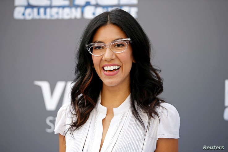 """Cast member Stephanie Beatriz poses at a screening of the movie """"Ice Age: Collision Course"""" at the Fox Studios Lot in Los Angeles, July 16, 2016."""