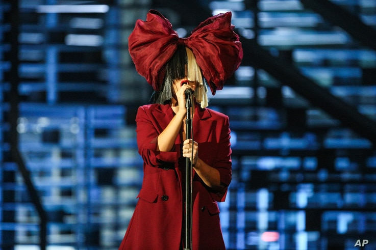 Sia performs at Shining a Light: A Concert for Progress on Race in America at the Shrine Auditorium in Los Angeles.