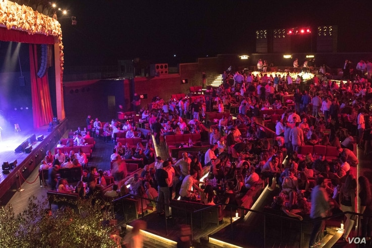 The outdoor Music Hall was opened in 2013. Michel Elefteriades claims it was partly inspired as an act of resistance against the Syrian war, Beirut, Aug. 27, 2016. (Photo: J. Owens/VOA)