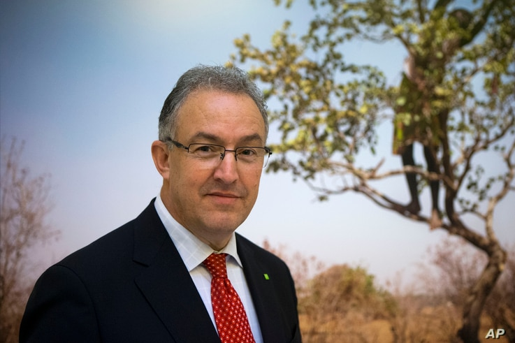 FILE - Rotterdam Mayor Ahmed Aboutaleb poses during a meeting with other mayors to push for local actions to fight climate change on the margins of the United Nations Climate Change Conference, in Paris, Dec. 3, 2015.
